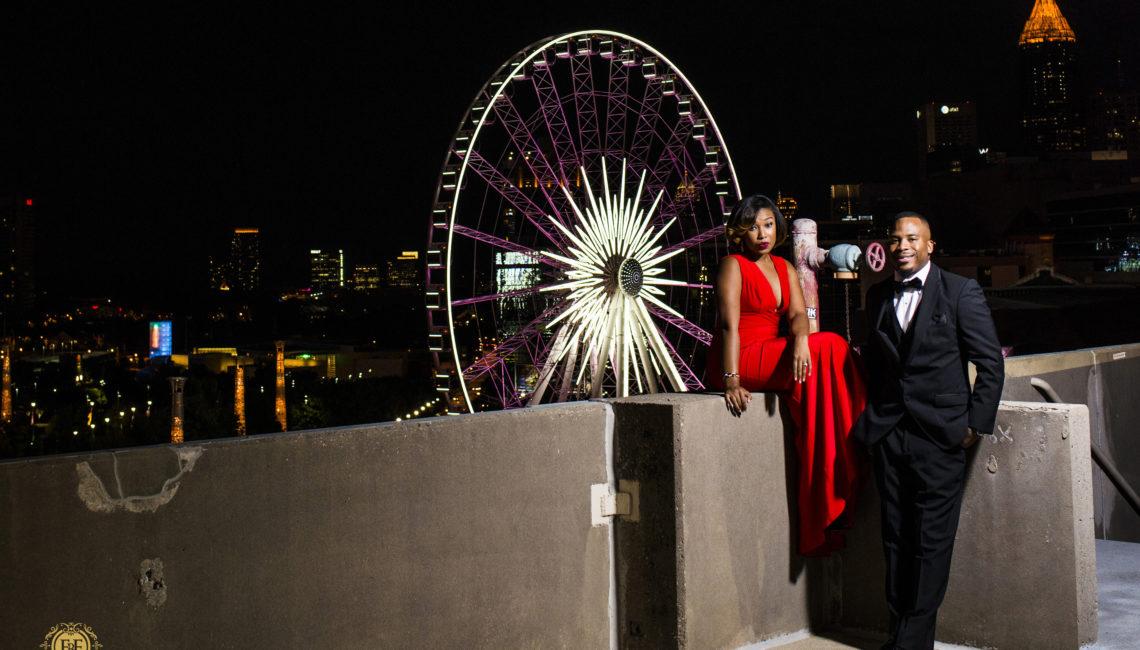 Fotos By Fola   Skyview Atlanta   Lenox Park   Atlanta Wedding Photographer   Elly B Events