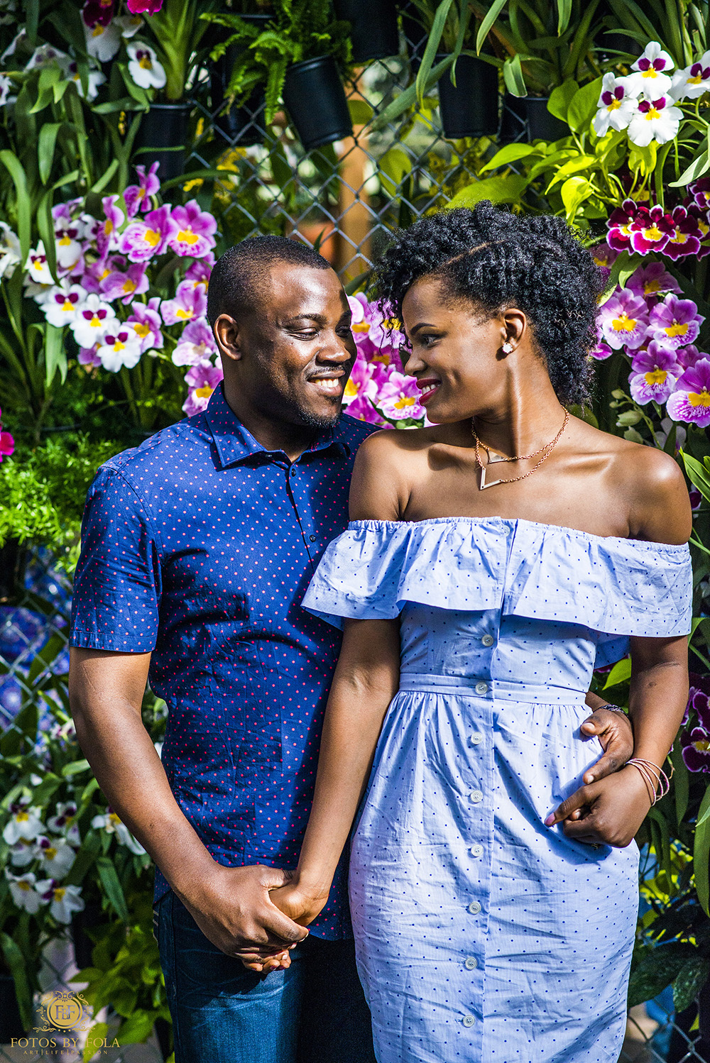 Fotos by Fola | Atlanta Wedding Photographer | Atlanta Botanical Garden | Atlantic Station 17th Street Bridge | Atlanta Skyline Engagement Shoot