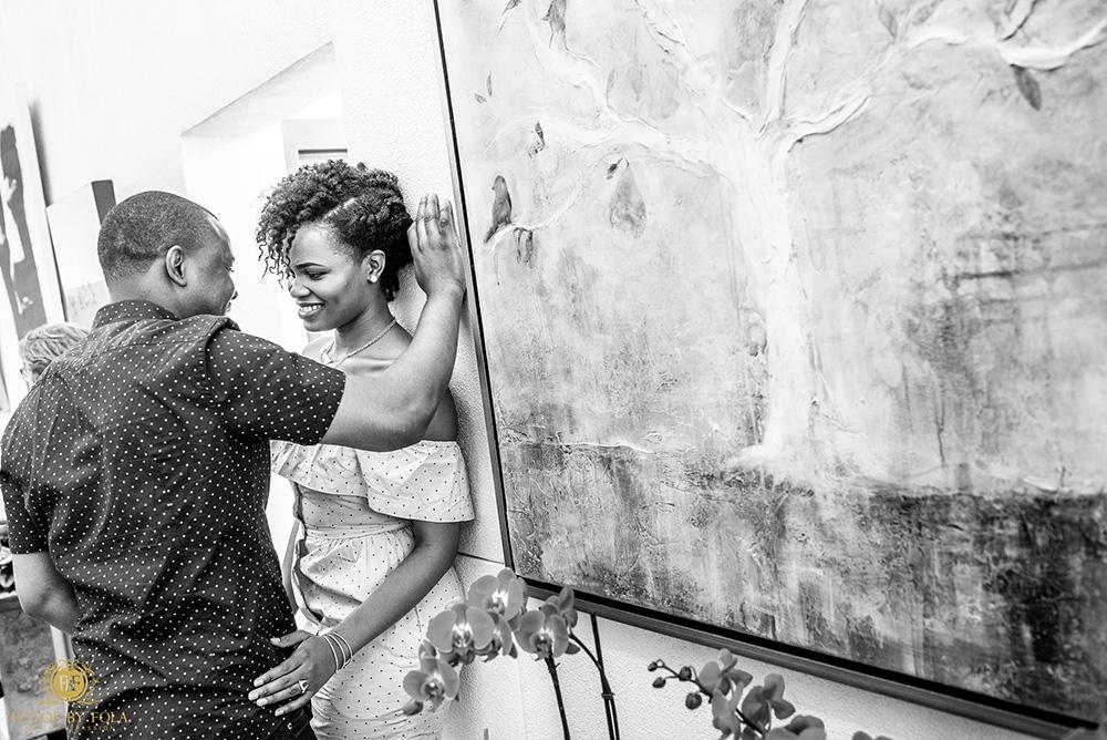Georgette + Edwin Garden-City Engagement Shoot | Atlanta