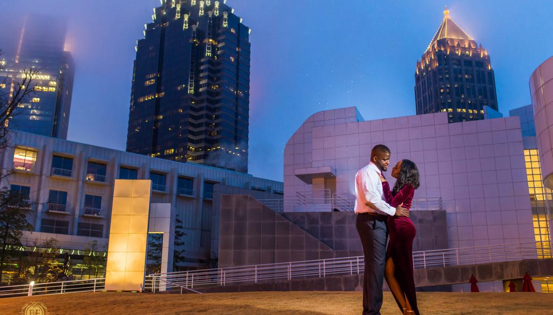 Fotos by Fola | Atlanta Wedding Photographer | One Touch Events | Atlanta Beltline | High Museum Atlanta| Engagement Shoot
