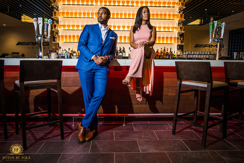 Fotos by Fola | Mercedes Benz Stadium | Atlanta Falcons | Engagement Shoot | Atlanta Wedding Photographer