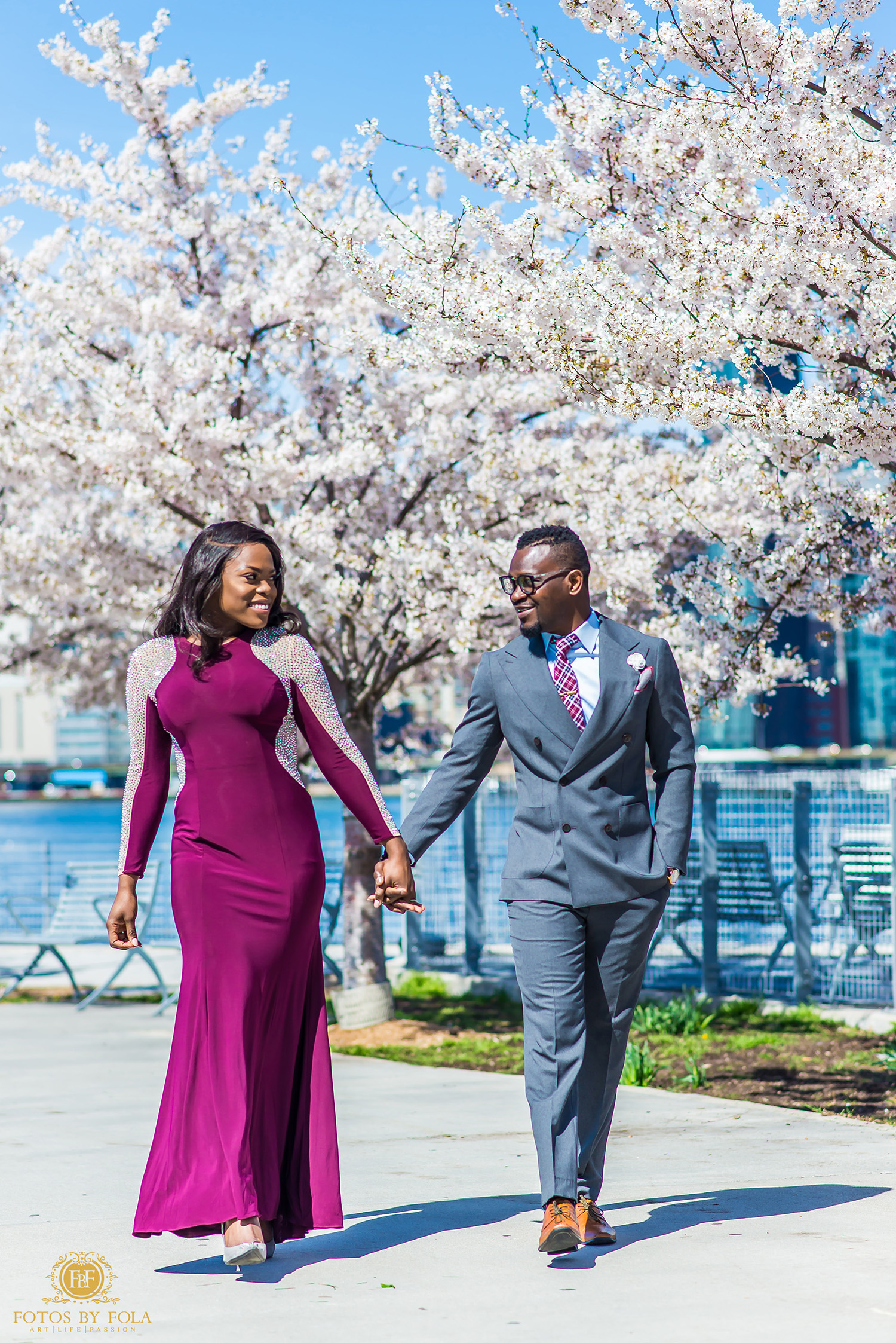 Fotos by Fola | New York City Engagement Shoot | Gantry Plaza Park | Manhattan | Brooklyn | Dumbo New York | New York Wedding Photographer